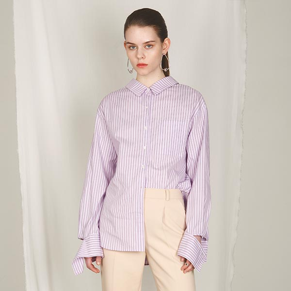 PIN-STRIPE SHIRT_PINK NE8SB0770