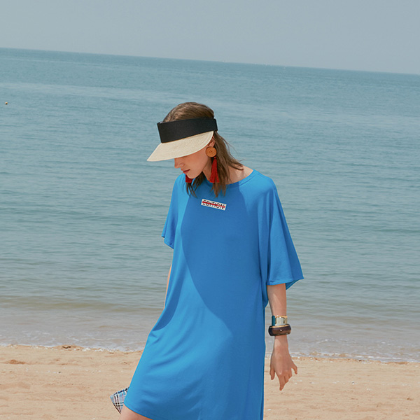 JERSEY TUNIC DRESS_BLUE NE8MO3180