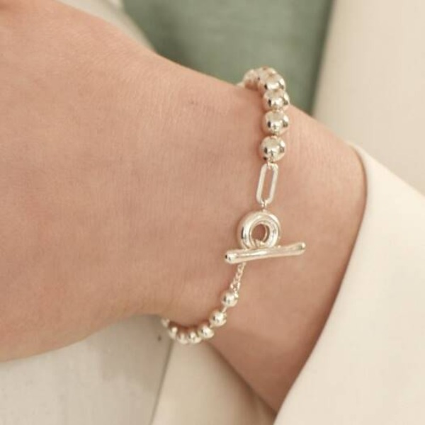 자체브랜드#[090factory] OT ball chain Bracelet_MX9XX0480