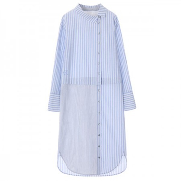 온앤온에디션UNUIQE LAYERD SHIRT DRESS_BLUE+STRIPE NE8SO0750