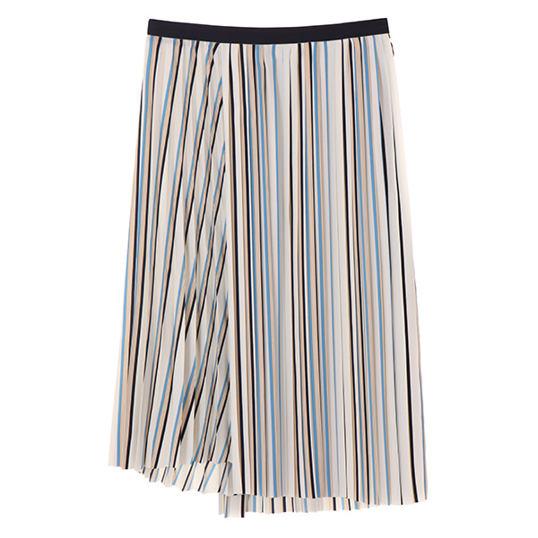 WRAP STIPE PLEATS SKIRT NE8SS0790
