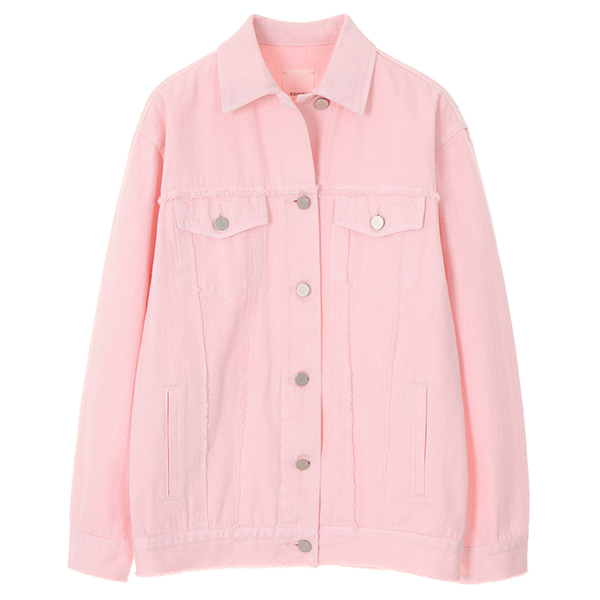 DENIM JACKET_PINK NE8SJ0840