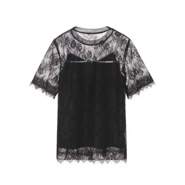 LACE+SLIP SET BLOUSE_BLACK NE8MB3070