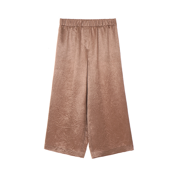 GLOSSY WIDE PANTS_L/BROWN NE8ML3160