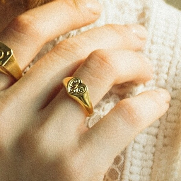 Daphne#[Daphne(다프네)] Classic heart ring (925 silver)_MX9XX0720