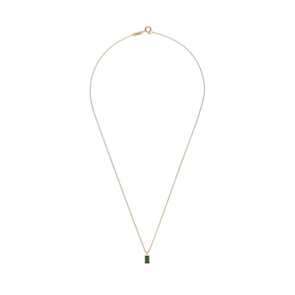 mzuu#[mzuu] Lover Square Crystal Necklace_MX0XB0320